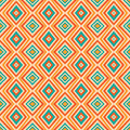Ethnic rhombus pattern in retro colors aztec style seamless background Royalty Free Stock Photo