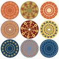 Ethnic round ornamental pattern.