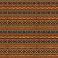 Ethnic seamless floral pattern striped background with flowers Royalty Free Stock Images