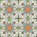 Ethnic seamless pattern. Abstract geometric tribal ornament. Colorful aztec background. Royalty Free Stock Photo