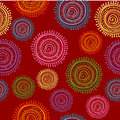 Ethnic seamless pattern in bright color with circular shapes Royalty Free Stock Photo