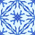 Ethnic seamless pattern. Ethnic boho ornament. Abstract batik tie dyed fabric, Shibori dyeing. Repeating background. Watercolor