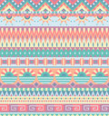 Ethnic seamless pattern. Geometric tribal ornament. Folk style. Colorful abstract background Royalty Free Stock Photo