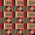Ethnic seamless pattern. Kente cloth. Tribal print Royalty Free Stock Photo