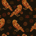 Ethnic seamless pattern with parrots Royalty Free Stock Photography