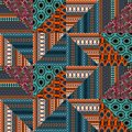 Ethnic seamless pattern with triangle stripes decoration, Hand drawn ornament tribal doodle geometric abstract design vector