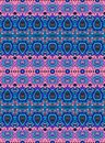 Ethnic seamless striped pattern. Vector background in blue and pink tones.