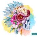 Ethnic skull Royalty Free Stock Photo
