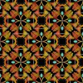 Ethnic style embroidery abstract seamless pattern. Vector colorful geometric textured background. Tapestry floral Royalty Free Stock Photo