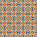 Ethnic style seamless pattern with floral motif. Vintage bright colors abstract background. Tribal ornament.