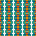 Ethnic style seamless pattern with geometric figures