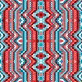 Ethnic tribal bright seamless pattern aztec style Royalty Free Stock Photo