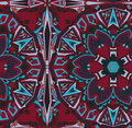 Ethnic tribal fashion abstract indian pattern eastern style traditional design Stock Photo