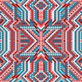 Ethnic tribal intricate seamless pattern aztec style Royalty Free Stock Photo