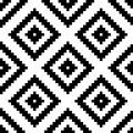 Ethnic tribal zig zag and rhombus seamless pattern. Vector illustration for beauty fashion design. Black white colors