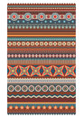 Ethnic various strips motifs in different color geometric stripe pattern vector wallpaper editable illustration Stock Photography