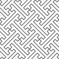 Ethnic vector seamless pattern - gray lines Royalty Free Stock Photos