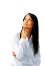 Ethnic woman thinking Royalty Free Stock Photo
