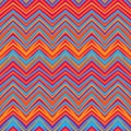 Ethnic zigzag pattern aztec style seamless background in retro colors Royalty Free Stock Photo