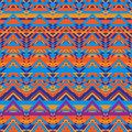 Ethnic zigzag pattern aztec style seamless background in retro colors Royalty Free Stock Images