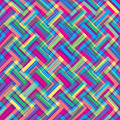 Ethnic zigzag pattern in retro colors aztec style seamless vector Stock Images
