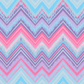 Ethnic zigzag pattern in retro colors, seamless vector