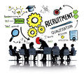Ethnicity business people recruitment meeting discussion concept Stock Photos