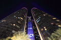 The etihad towers in abu dhabi at night united arab emirates Royalty Free Stock Photography