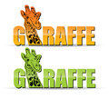 Etiqueta do Giraffe Foto de Stock Royalty Free