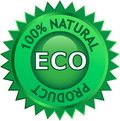 Etiqueta natural do produto de Eco Foto de Stock Royalty Free