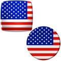 Etiquetas da bandeira americana Foto de Stock Royalty Free