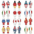 Etiquetas da bandeira da mulher do homem Imagem de Stock Royalty Free