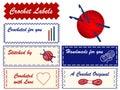 Etiquetas do Crochet de +EPS Fotos de Stock