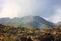 Etna mountain landscape with clouds sicily Royalty Free Stock Image