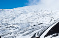 Etna volcano ski resort view of the sicily Royalty Free Stock Image