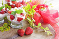 Eton mess delicious with strawberries sweet food Stock Image