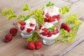 Eton mess delicious with strawberries sweet food Stock Photos