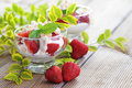 Eton mess delicious with strawberries sweet food Royalty Free Stock Photography