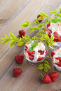 Eton mess delicious with strawberries sweet food Royalty Free Stock Photo