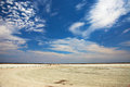 Etosha lookout view of the pan from the Royalty Free Stock Photos