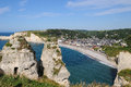 Etretat panorama Royalty Free Stock Image