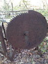 Ett hjul för stålbruntsvart Fotografering för Bildbyråer