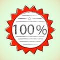 Etykietka 100 Procentów. Obraz Royalty Free