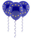 EU balloons - flag Royalty Free Stock Photo