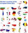 Země vlajka mapy