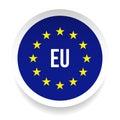 EU - European Union logo symbol Royalty Free Stock Photo