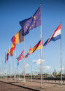 EU Flags Royalty Free Stock Photography