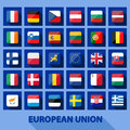 Eu icons vector illustration of european union Stock Photography