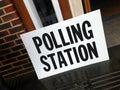Eu referendum abstract british polling station Stock Photos