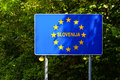 Eu signs series slovenia photo realistic europa Stock Images